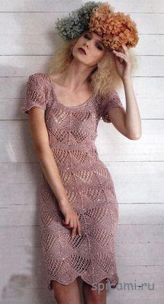 ажурное платье спицами - Самое интересное в блогах