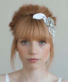 wedding hair updos with bangs