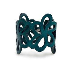 NOVICA Floral Leather Wristband Bracelet ($45) ❤ liked on Polyvore featuring jewelry, bracelets, blue, cuff, cuff bracelet, blue bangles, novica, snap jewelry and flower cuff bracelet