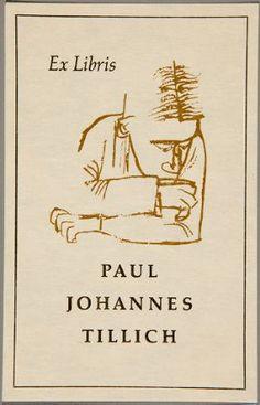 Ex Libris by Ben Shahn for Paul Johannes Tillich