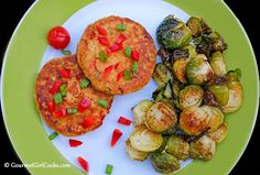 Tuna Cakes with Roasted Brussels Sprouts | Quick & Easy Low Carb/Healthy | Fish and Seafood Recipes
