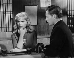 "Anne Francis with John Kerr in ""Girl of the Night"" (1960)."