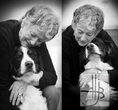 Professional Photography owner and dog | bernese mountain dog photos of dog and owner black and white photo by ...