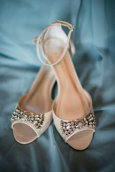 Powder Blue and Burgundy Fall Winery Wedding | Sparkly Bridal Shoes