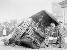 An Aveling in trouble in Bridge Street Ardwick, Manchester, allegedly 29th July 1895