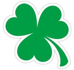 Three-leaf clover sticker. • Also buy this artwork on stickers.