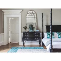 Sassy Boo Majestic Four Poster Black Bed | Luxury Bed - Black French Bedroom Furniture