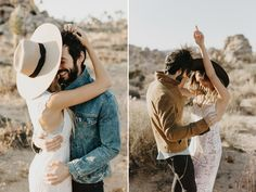Maybe it's the stunning scenery or images of Hollywood movies, but to us, there's always been something vastly alluring and utterly romantic about the desert. We love unique engagement photos that showcase the beauty of the desert. Whether it's the mountain views or winding dirt roads, talented photographers around the world have captured breezy romance …