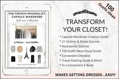 How To Start A Capsule Wardrobe: 5 Step Visual Guide - Classy Yet Trendy