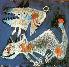 Constant (A. Nieuwenhuis), Twee dieren, 1946