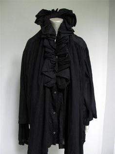 Romeo Gigli Vintage 1980's Black Pleated Ruffled Evening Jacket It. 42 U.S. 6 #RomeoGigli #Jacket