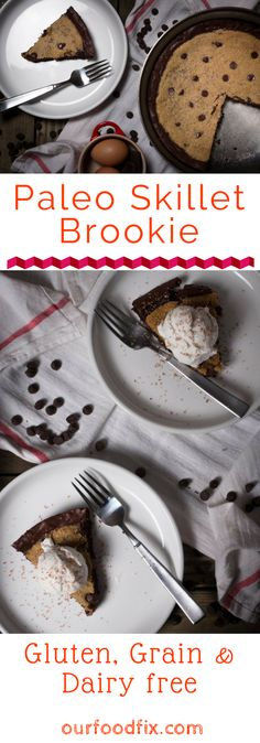 Paleo recipes | Paleo dessert recipes | Low carb dessert | chocolate recipes | cookie recipes | brownie recipes | Brookie recipes | skillet cookie | skillet brownie | Paleo sweets and treats | Valentine's Day recipes | sweets and treats | gluten free recipes | grain free recipes | dairy free recipes