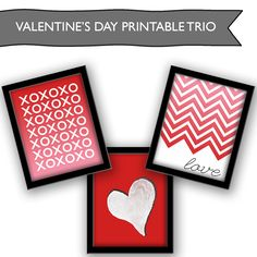 #Valentine's Day #Printable Set from @savedbyloves #Freebie