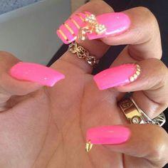Blacc chyna pierced Nails