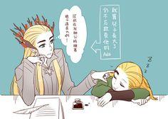 Thranduil and Legolas - Tales of Mirkwood - Boring parent