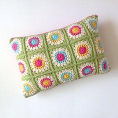 Sunburst Granny Crochet Cushion by Flamingpot on Etsy
