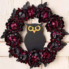 Owl Halloween Wreath Kit