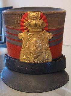 Chacó 1890 Húsares de Pavia Headgear, Headdress, Spanish, Fancy, Military Uniforms, Saddles, Helmets, Swords, Weapons