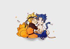 Kitsune and Neko Naruto Und Sasuke, Naruto Cute, Naruto Shippuden Sasuke, Anime Naruto, Boruto, Anime Meme, Funny Anime Pics, Otaku Anime, Sasunaru