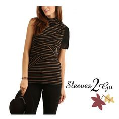 These pretty attachable sleeves are a fall-tastic wardrobe solution ! www.sleeves2go.com Wardrobe Solutions, T Shirts For Women, Fall, Pretty, Sleeves, Tops, Fashion, Autumn, Moda