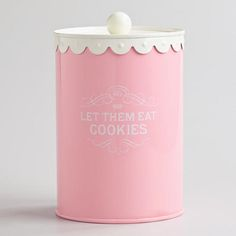 One of my favorite discoveries at WorldMarket.com: Let Them Eat Cookies Canister