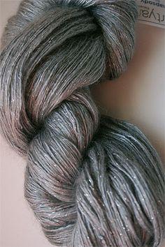 silk + mohair in silver