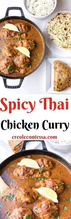 Spicy Thai Chicken Curry - Creole Contessa Spicy Recipes, Asian Recipes, Cooking Recipes, Ethnic Recipes, Egg Recipes, Chicken Recipes, Thai Chicken Curry, Cooking Curry, Slow Cooker Pressure Cooker