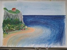 After long time I tried use oil pastels.everybody need to learn oil pastels Landscape Oil Pastel Landscape, Oil Pastels, My Drawings, Deviantart, Painting, Painting Art, Paintings