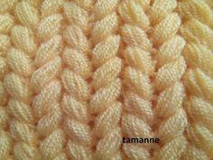 Crochet Beret Pattern, Knitted Heart Pattern, Plaid Crochet, Diy Crochet Patterns, Crochet Designs, Diy Crafts Knitting, Diy Crafts Crochet, Easy Knitting, Knitting Stitches