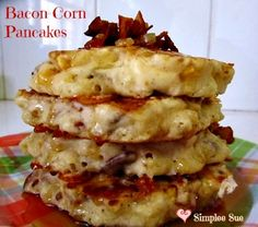 Bacon Corn Pancakes on MyRecipeMagic.com