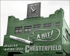 Polo Grounds Chesterfield Sign 1954  (colorized)