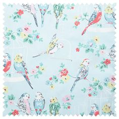 Cotton Fabric | Big Budgies Cotton Duck | CathKidston  Mums Project bag
