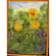 Elecampane horseheal  or marchalan plant  wool by SunflowerWoolArt, $175.00