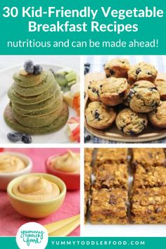 Vegetables for Breakfast? Yes! That's right, and kids even love and crave these easy breakfast recipes! Healthy green smoothies, delicious veggie egg breakfast muffins, and banana pancakes with hidden spinach! If you want to be more health-conscious with what food you're serving your children then these healthy recipes for kids are perfect! Find delicious baked goods and more here! Perfect for a nutrient-rich breakfast to kick off the day or even for healthy snack time ideas. Egg Recipes For Breakfast, Breakfast Muffins, Breakfast For Kids, Breakfast Ideas, Healthy Meals For Kids, Kids Meals, Healthy Snacks, Healthy Recipes, Sweet Potato Cinnamon