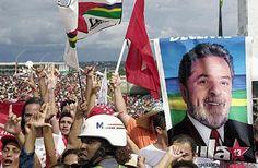 Campanha pelo Partido dos Trabalhadores nas eleições de 2002 - Créditos: Victor Soares/Arquivo Agência Brasil