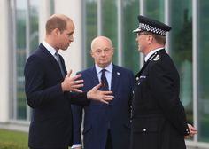Prince William Photos Photos - Prince William, Duke of Cambridge is greeted by Chief Constable Ian Hopkins as he arrives as he visits the headquarters of Greater Manchester Police where he met those involved in the response of last week's suicide bomb attack at the Manchester Arena which killed 22 people on June 2, 2017 in Manchester, England. - Duke of Cambridge Visits Greater Manchester Police Headquarters
