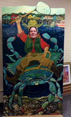 Sneak peak at one of our new photo opp boards for the upcoming World Famous Blue Crab Festival. To see both, come to the festival this weekend, May 16 & 17, 2015 in Little River, SC. BlueCrabFestival.org