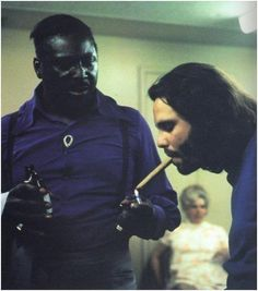 Albert King lighting Jim Morrison's cigar