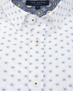 Discover men's designer shirts from Ted Baker. Formal Shirts, Casual Shirts For Men, Ted Baker Shirts, Mens Printed Shirts, Textile Pattern Design, Mens Designer Shirts, Textiles, White Shirts, Shirt Designs