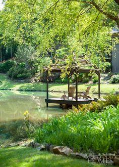 Outdoor Areas, Outdoor Rooms, Outdoor Living, Lakeside Living, Landscape Design, Garden Design, Landscape Architecture, Natural Pond, Pond Landscaping