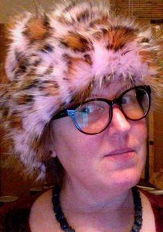"""Peek a boo in a """" pink a boo """" FURNOGGIN HAT"""