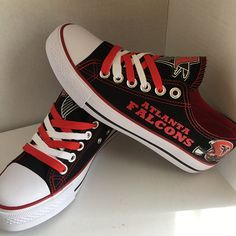 huge selection of 58f81 67204 Atlanta Falcons Converse Sneakers Atlanta Falcons Team, Falcons Game,  Falcons Football, Football Team