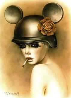 Arte de Brian M. Viveros - Mujeres fumando