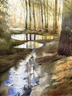 Painting is a mode of expression. Today, i have collected a beautiful showcase of Scenery and Landscape Painting by very talented artists for your inspiration. Watercolor Landscape, Landscape Art, Landscape Paintings, Watercolor Paintings, Watercolours, Watercolor Pencils, Painting Art, Watercolor Water, Encaustic Painting