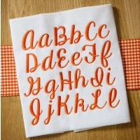 Manhattan Script Embroidery Font
