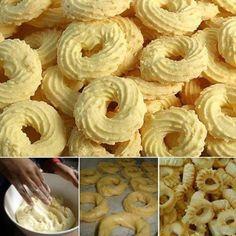 Ingredientes: 600g de farinha de trigo 400g de amido de milho 200g de manteiga 300g de açúcar 200g de ovos (cerca de 4 ovos) 300ml de leite 15g de fermento químico 300g de coco ralado seco pode ser flocos Modo de Preparo: 1. Leve...