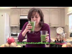 Rebecca Cilantro Green Smoothie: canteloupe, kiwi, cilantro and banana