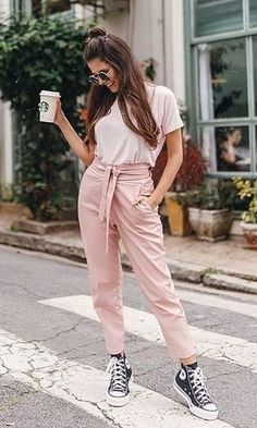 New Dress Black Outfit Casual Pants 70 Ideas Girls Fashion Clothes, Teen Fashion Outfits, Look Fashion, Clothes For Women, Fashion Pants, Hijab Fashion, Fall Fashion, Fashion Design, Casual Work Outfits