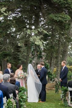 Jenn and Ethan's Foggy Maine Wedding at Newagen Seaside Inn. Laurie Andrews Design