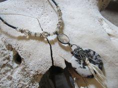 Bohemian Jewelry Boho Jewelry Zebra Jasper Donut by edanebeadwork